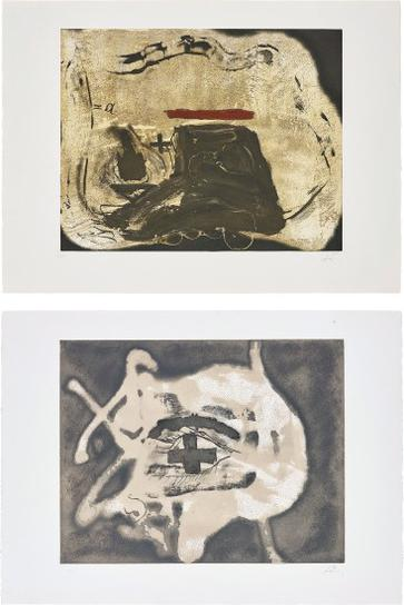 Antoni Tapies-Pied Et Trait Rouge (Foot And Red Line); And Relief Sable-1982