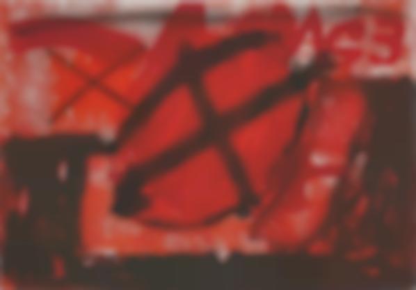 Antoni Tapies-Cercle Rouge (Red Circle)-1976