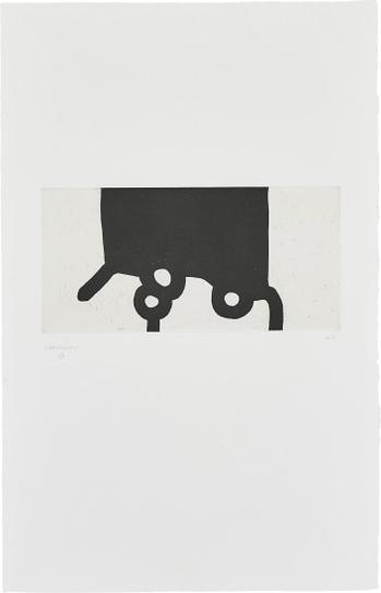 Eduardo Chillida-Bikaina XII (Extraordinary XII)-1987