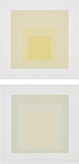 Josef Albers-Gray Instrumentation II D; And Gray Instrumentation II H, From Gray Instrumentation Ii Portfolio-1975
