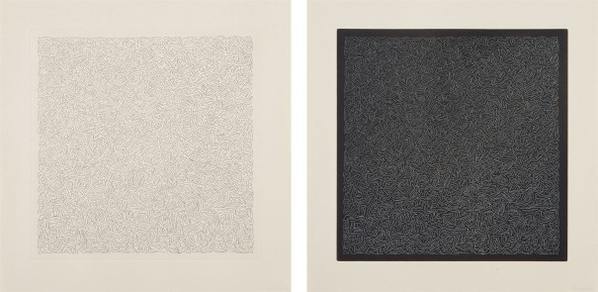 Sol LeWitt-Line Etching II; And Line Etching V, From Line Etchings-2000