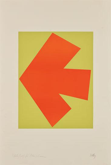 Ellsworth Kelly-Orange Over Green (Orange Sur Vert), From Suite Of Twenty-Seven Color Lithographs-1965