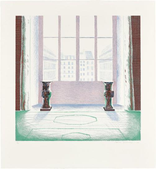 David Hockney-Two Vases In The Louvre-1974
