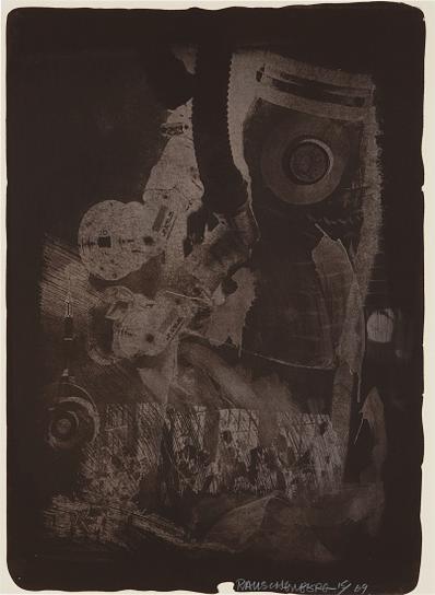 Robert Rauschenberg-Earth Crust, From Stoned Moon Series-1969