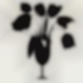 Donald Sultan-Black Tulips And Vase-2014