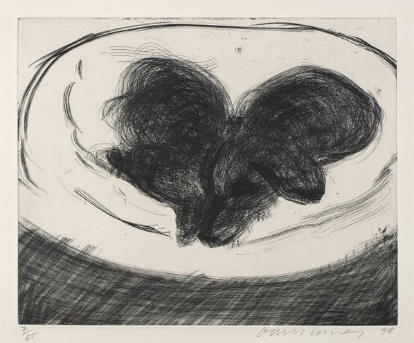 David Hockney-Dog Etching No. 1, From Dog Wall-1998