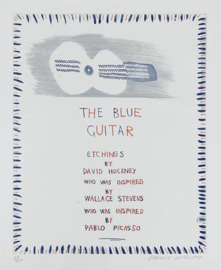 David Hockney-The Blue Guitar: Title Page-1977
