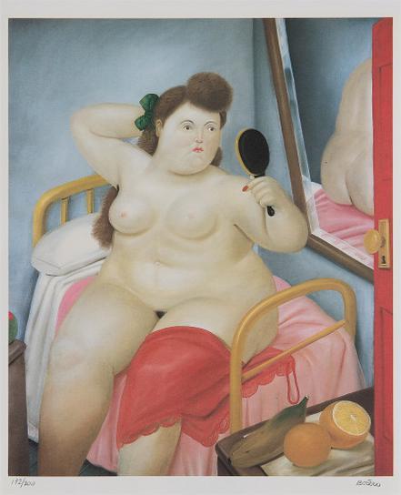 Fernando Botero-La Toilette, From Botero-1982