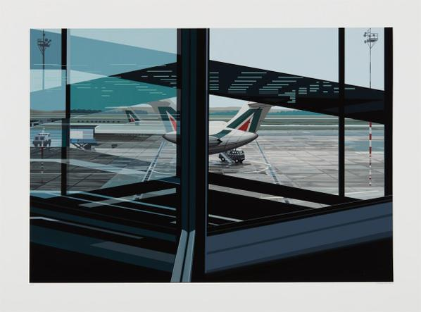 Richard Estes-Flughafen (Airport), From Urban Landscapes No. 3-1981