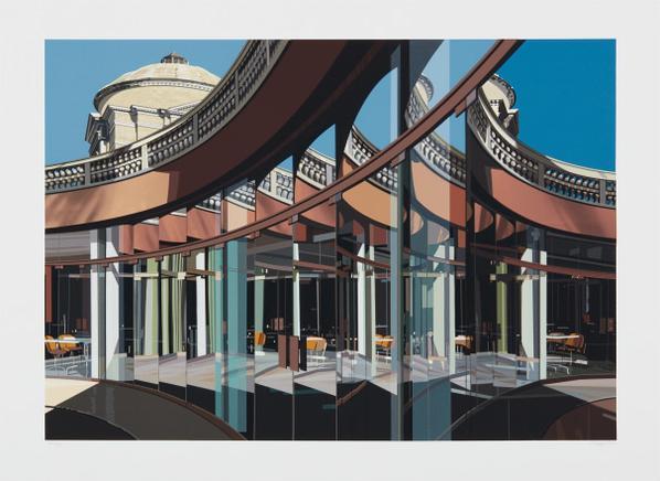 Richard Estes-Cafeteria, Vatican, From Urban Landscapes No. 3-1981