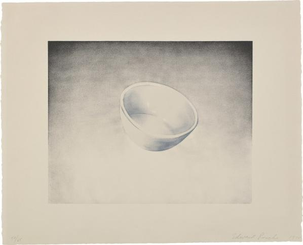 Ed Ruscha-Bowl, From Domestic Tranquility Series-1974