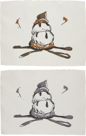 Claes Oldenburg-Profiterole; And Profiterole-Gray State-1990