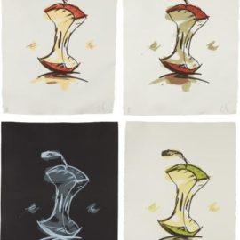 Claes Oldenburg-Apple Core - Summer; Apple Core - Autumn; Apple Core - Winter; And Apple Core - Spring-1990