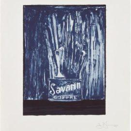 Jasper Johns-Savarin 6 (Blue)-1979