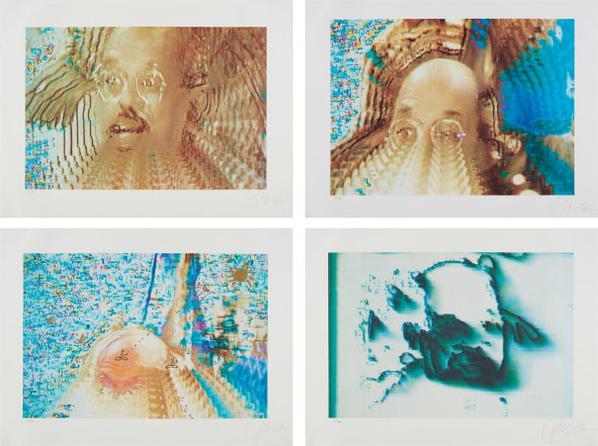 Nam June Paik-Allen In Vision, Four Plates-1990