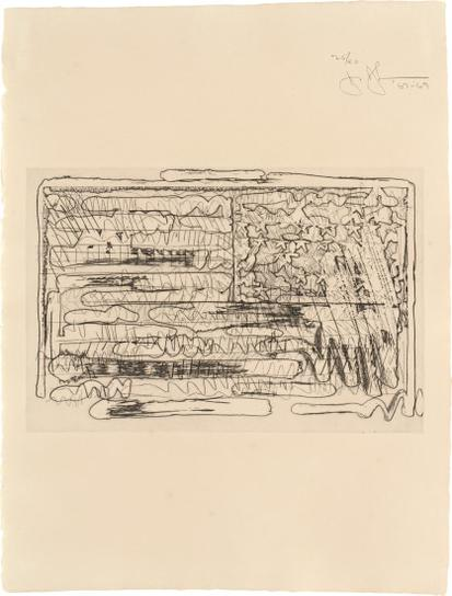 Jasper Johns-1St Etchings, 2Nd State: One Plate-1969