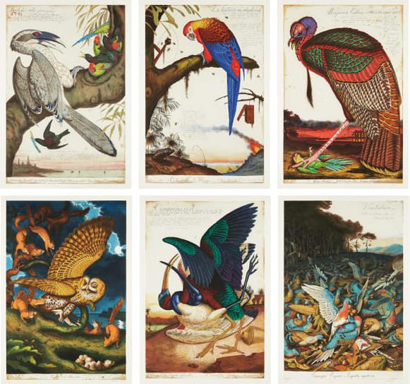 Walton Ford-Swadeshi-Cide, 1998; La Historia Me Absolvera, 1999; Benjamins Emblem, 2000; Tale Of Johnny Nutkin, 2001; Compromised, 2003; And Visitation, 2004-