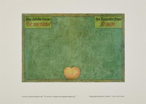 Ilya Kabakov-The Apple, From The Readymade Boomerang Portfolio-1990