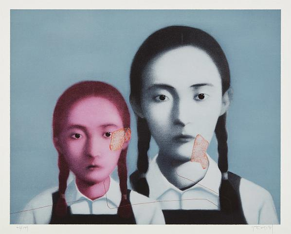 Zhang Xiaogang-Two Sisters, From Big Family-2003