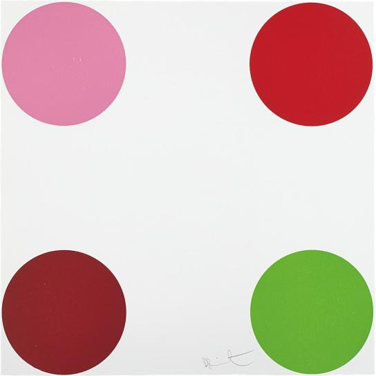 Damien Hirst-Curare, From 40 Woodcut Spots-2011