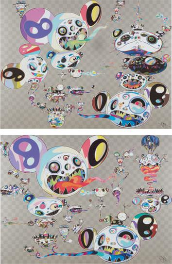 Takashi Murakami-Another Dimension Brushing Against Your Hand; And Hands Clasped-2015