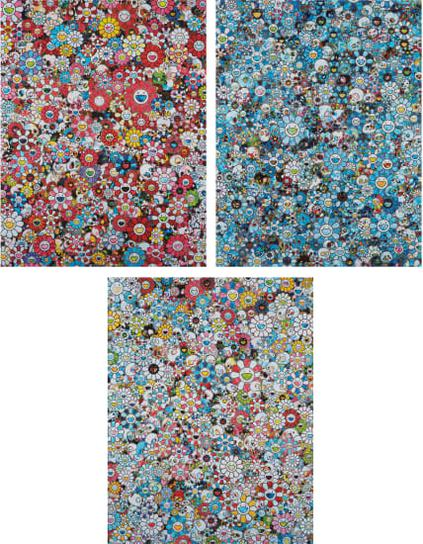 Takashi Murakami-The Merciless World; Signal;And Dazzling Circus: Embrace Peace And Darkness Within Thy Heart-2018
