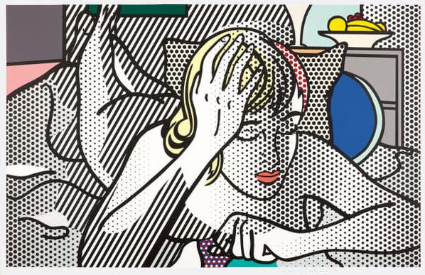 Roy Lichtenstein-Thinking Nude, From Nude Series-1994