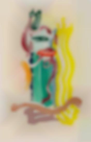Roy Lichtenstein-Portrait, From Brushstroke Figure Series-1989