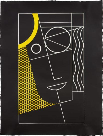 Roy Lichtenstein-Modern Head #2, From Modern Head Series-1970