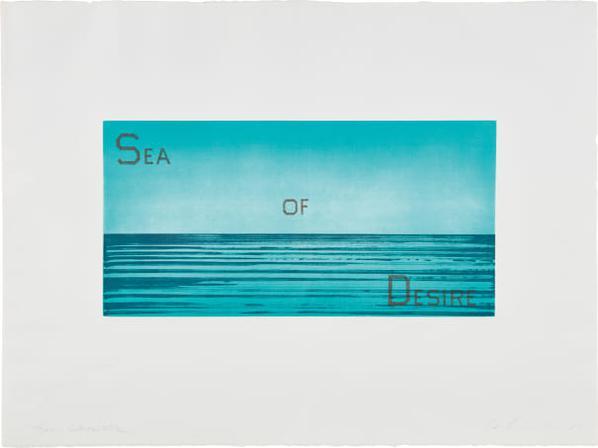 Ed Ruscha-Sea Of Desire-1983