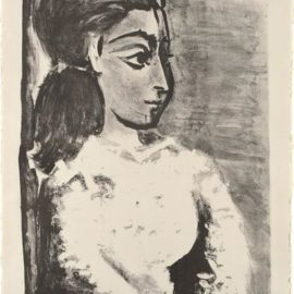 Pablo Picasso-Buste De Femme Au Corsage Blanc (Jacqueline De Profil) (Bust Of A Woman With White Bodice, Jacqueline In Profile)-1957