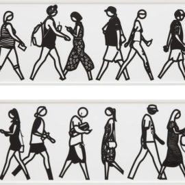 Julian Opie-Walking In Melbourne 2; And Walking In Melbourne 4, From Walking In Melbourne Series-2018