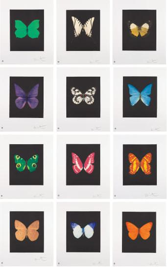 Damien Hirst-Butterfly Etchings-2009