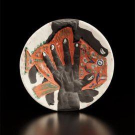 Pablo Picasso-Hands With Fish (Mains Au Poisson)-1953