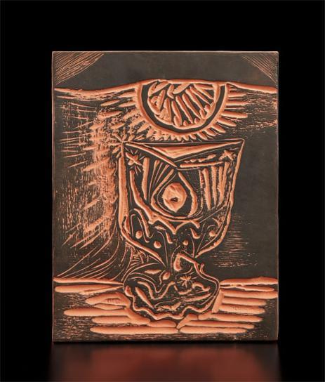 Pablo Picasso-Glass Under Lamp (Le Verre Sous La Lampe)-1964