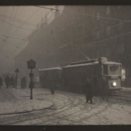 Josef Sudek-Streetcar In Snow, Prague