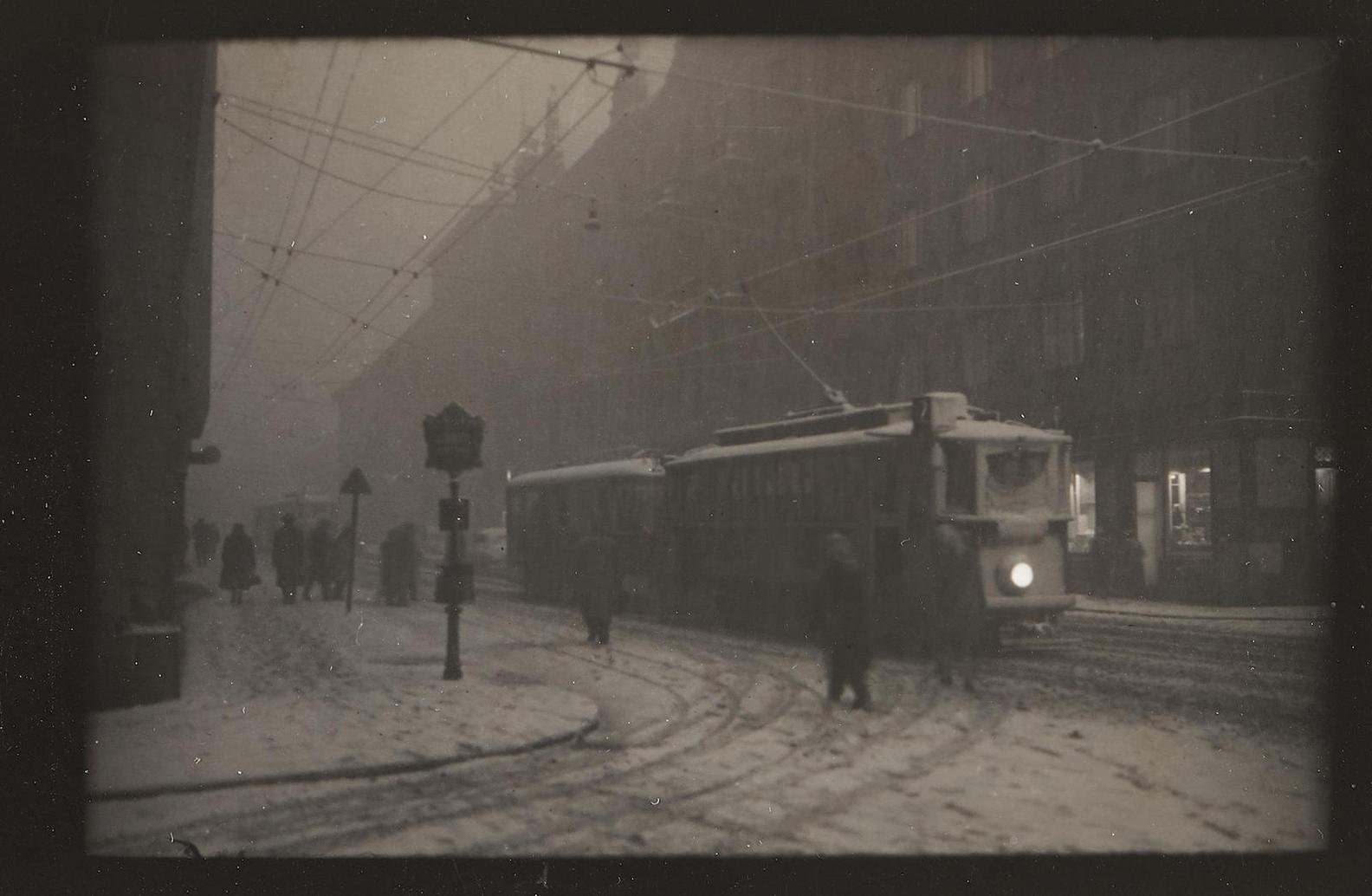 Josef Sudek-Streetcar In Snow, Prague-
