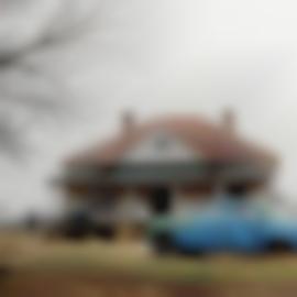 William Christenberry-House And Car, Near Ackron, Alabama-1981