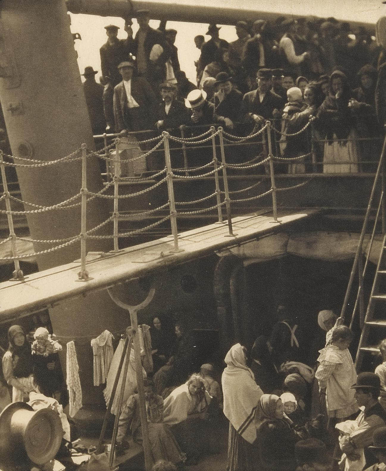 Alfred Stieglitz-The Steerage; And The City Across The River, 1907 And 1910 (1911)-1910