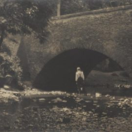 Josef Sudek-Untitled (Boy Crossing Stream)-1925