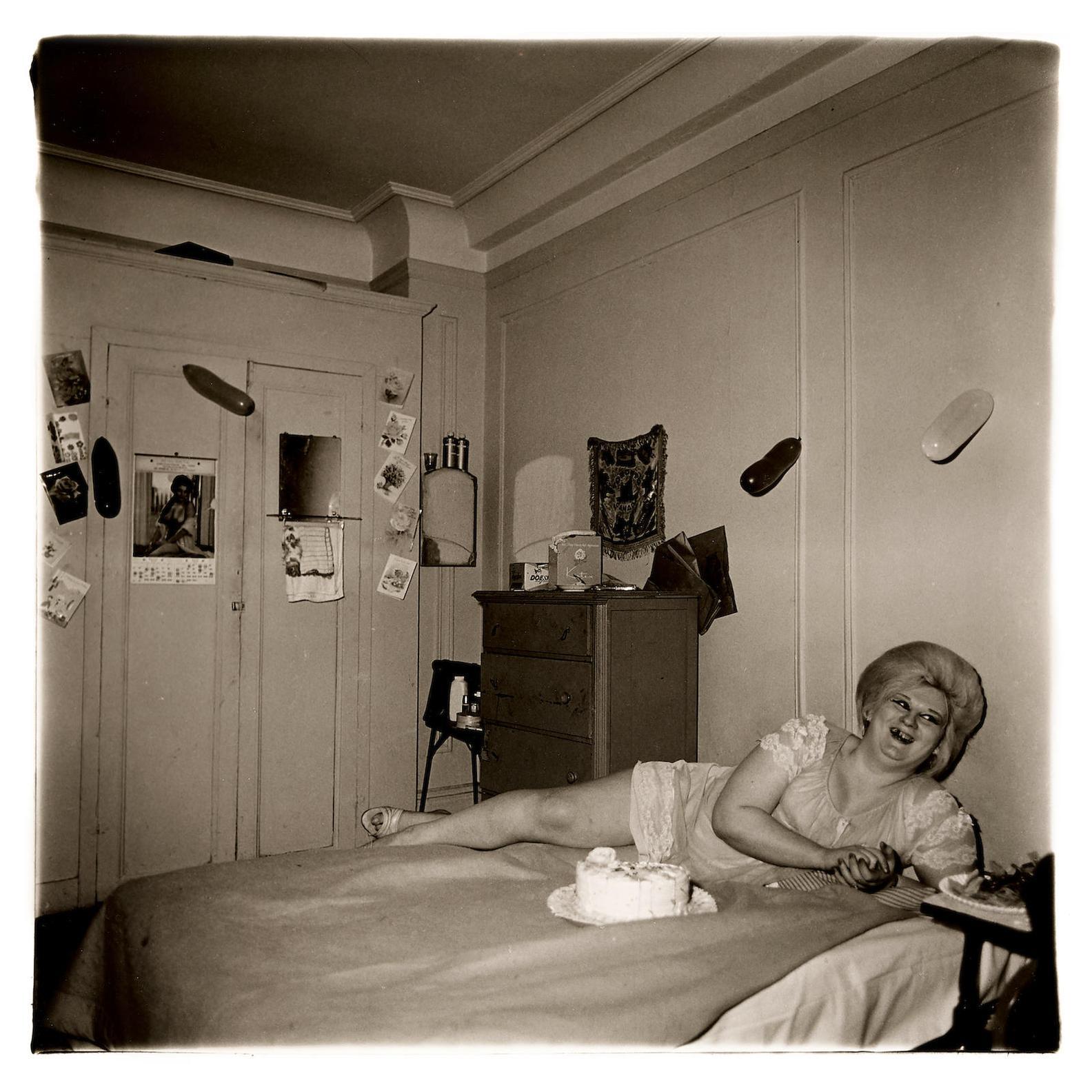 Diane Arbus-Transvestite At Her Birthday Party, N.Y.C.-1969