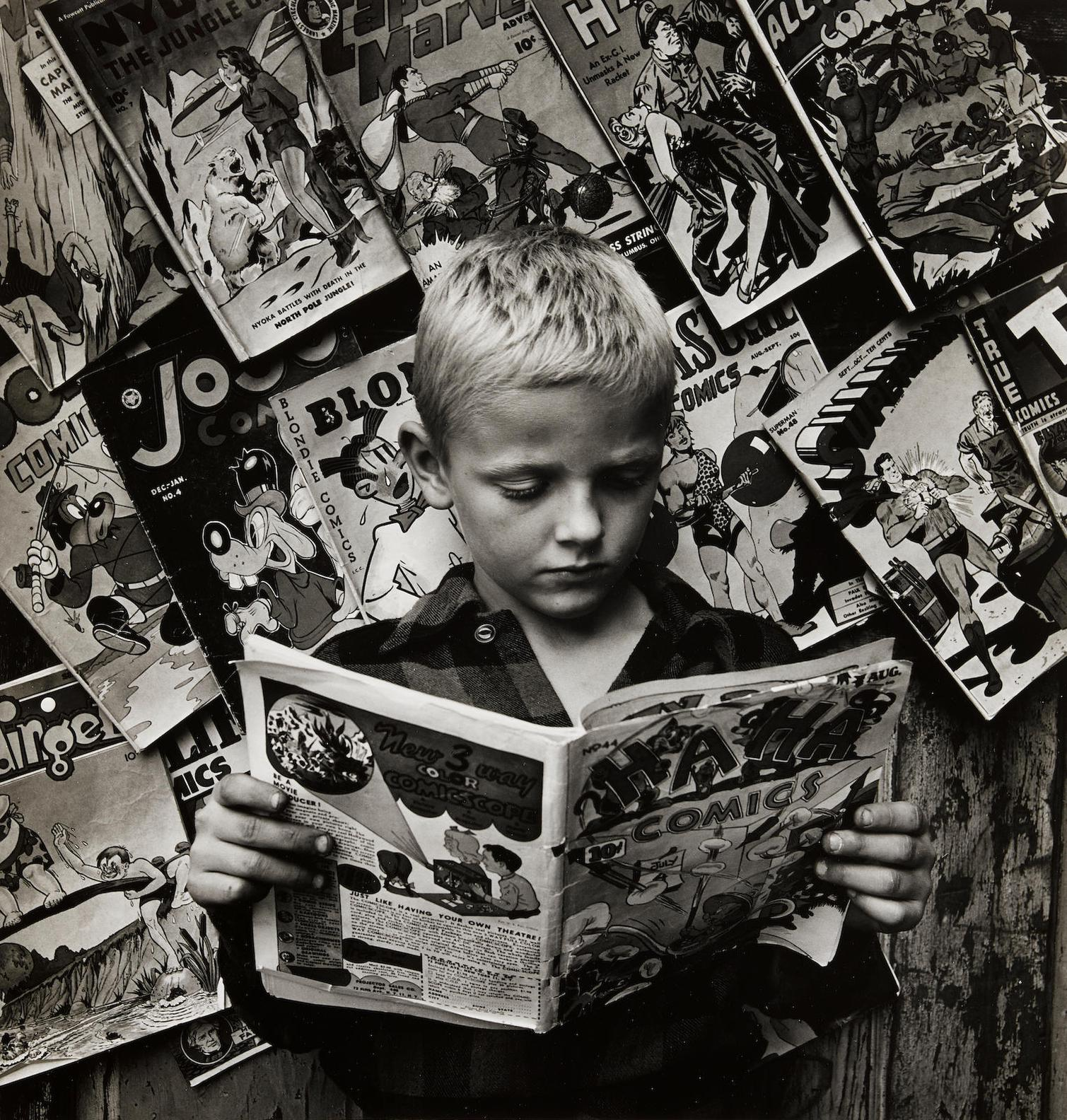 Morris Engel-Comic Book Stand, NYC-1945
