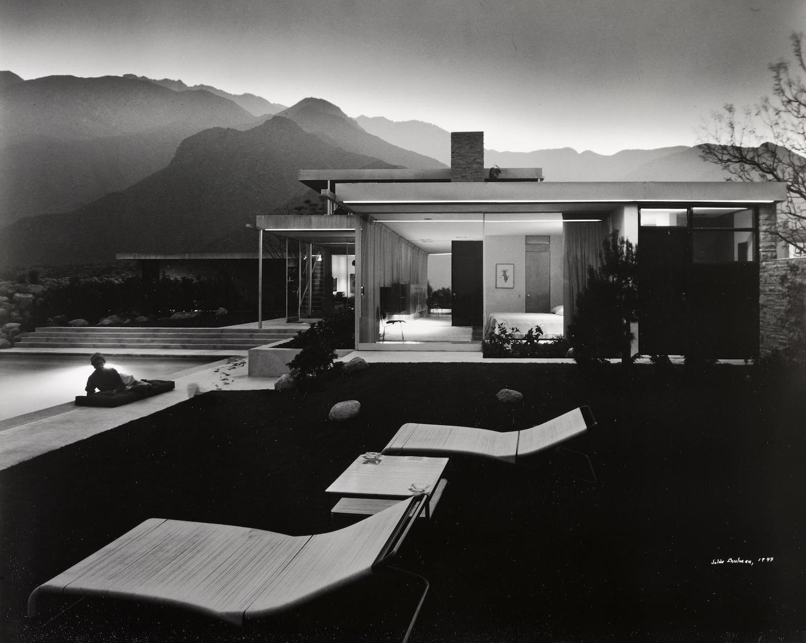 Julius Shulman-Kaufman House, Richard Neutra, Palm Springs, California-1947