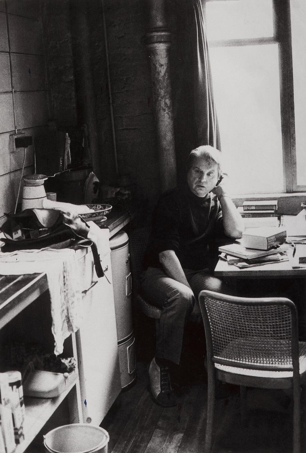 Peter Stark - Francis Bacon In His Studio And Francis Bacon Celebrating In The Colony Club (Muriel Belcher In The Background)-1973