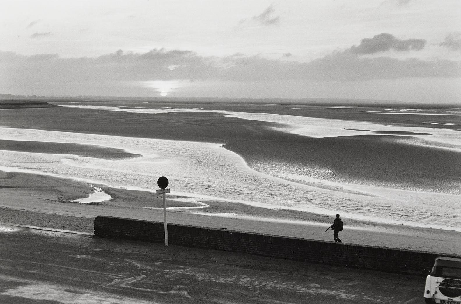 Henri Cartier-Bresson-Beach With Lone Figure-1969