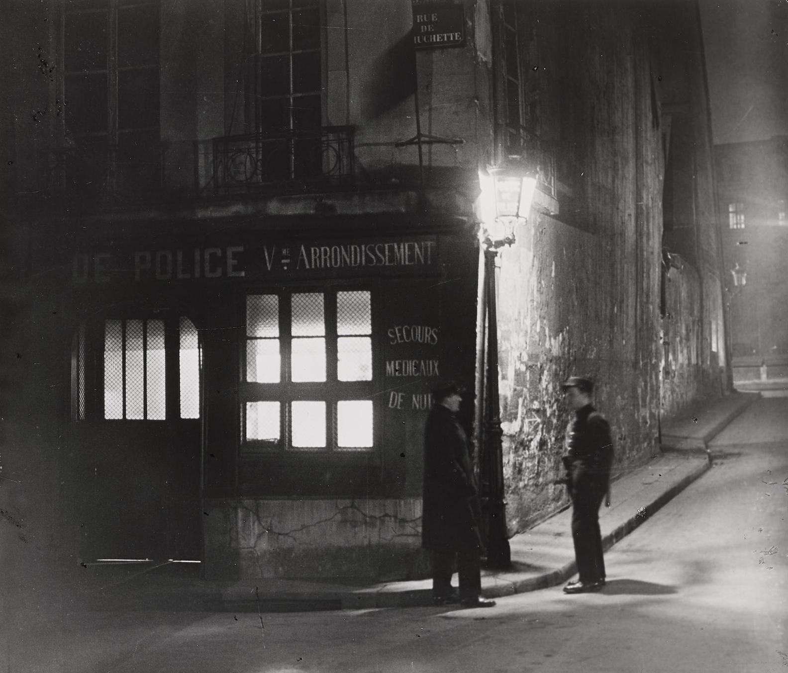 Brassai-Oldest Police Station, Paris-1933