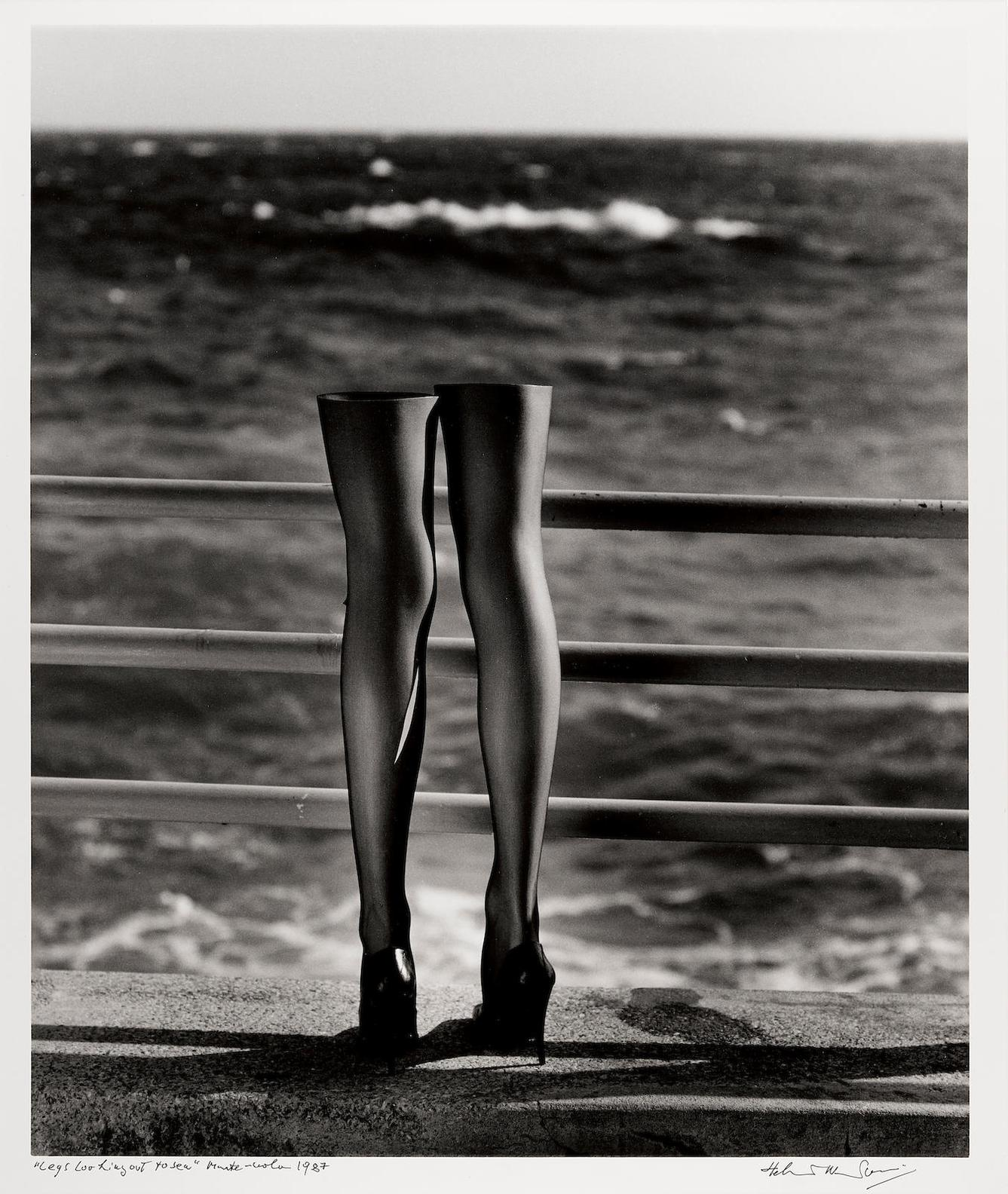 Helmut Newton-Legs Looking Out To Sea, Monte Carlo-1987