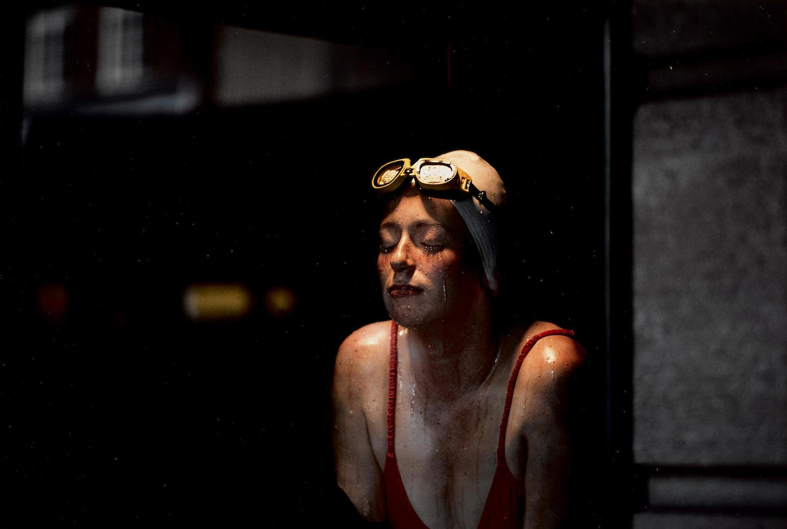 Ernst Haas-Swimmer, New York, Usa-1981