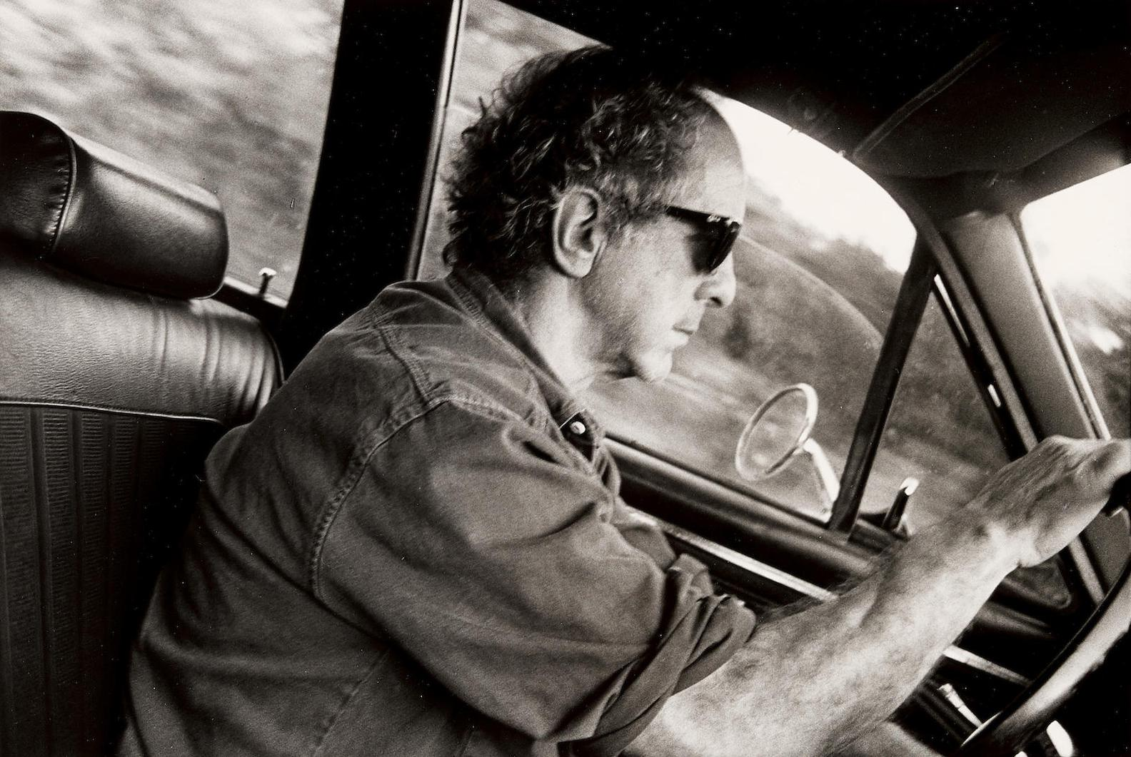 Brian Graham - Robert Frank Driving From Woodstock To New York City On Route 207 After A Visit To Raoul Hague, Spring-1992