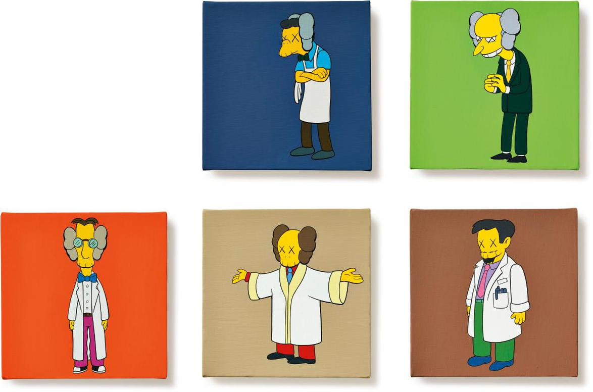 KAWS-Kimpsons Series (Five Works)-2005